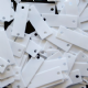 CLEARANCE Value Pack 1000 x 19mm Glossy White Rectangle Sequins SAVE £4